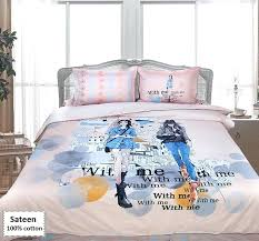 teen girl bedding sets king size sateen teen girl duvet covers king size 4 pieces teenage