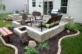 Patio Ideas With Pavers At Backyard Of Chalet Shoplvhome Com Outdoor Patio Ideas For Small Spaces