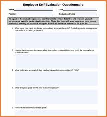 Employee Self Assessment Questionnaire - Tier.brianhenry.co