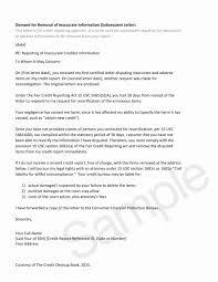 Letters To Dispute Credit Sample Dispute Letter To Credit Bureau Creditor Dispute Letters Free