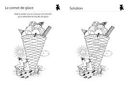 Dessin de trois boules de glaces dans deux cornets simples. Coloriage A Imprimer Le Cornet De Glace