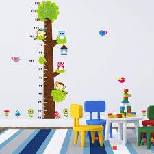 Us 7 18 15 Off Children Room Kindergarten Height Measure Chart Owl Money Birds Tree Diy Bedroom Living Room Childrens Room Wall Sticker Mural In