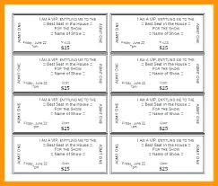 Show Ticket Template Movie Ticket Template For Word Concert Ticket Te Free Download