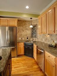 Concept Maple Kitchen Cabinets Backsplash Natural Design Pictures Remodel Decor And Throughout Ideas