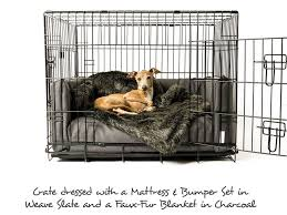 best bedding for dog kennel crate cover and set plush charley chau mattress bed pers weave