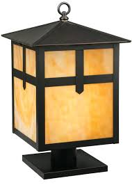 full image for arts and crafts mission style outdoor lighting backyard craftsman rustic post lights mount