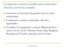comparative analysis principles and approaches course european 2 3 comparative analysis 2 comparative analysis in public and social policy theories methods examples overview of methods frequently used to study social