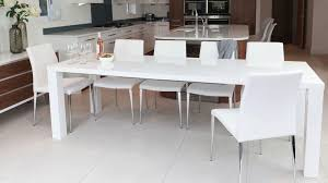 ideal white high gloss extending dining table and chairs uk white extending dining table