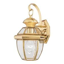 elstead newbury qz newbury2 s small brass wall lantern 2614