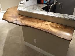 live edge boxelder bar top lee florida