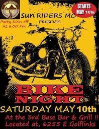 motorcycle club flyers the tucson sun riders motorcycle club bike night