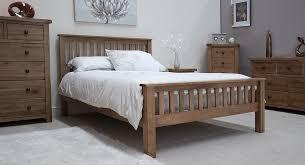 tilson solid rustic oak bedroom furniture 4 6 double bed