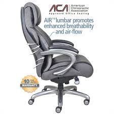 big and tall executive office chair in multi tone bliss black