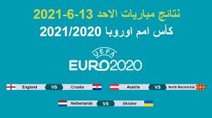 كأس امم اوروبا 2020 | نتائج مباريات الاحد 13-6-2021 وترتيب المجموعات وجدول  المباريات - YouTube