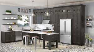 Charcoal Grey Shaker Ready To Assemble Kitchen Cabinets The Rta