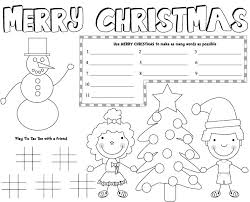 Personalized placemats, custom your name photo text kids table mats, customized washable heat resistant place mats for kitchen table and personalized pet food mat 1pcs (12x18 inch). 5 Best Free Printable Christmas Coloring Placemats Printablee Com