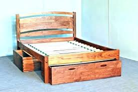 Twin Xl Bed Frame Solid Wood Furniture Mattress And Box Spring ...
