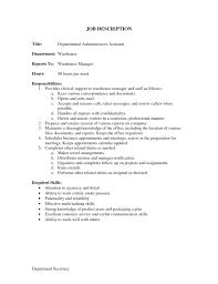 Duties Of Administrative Assistant Sample Job Description Administrative Assistant Yun24 Co Office 1
