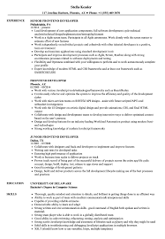 It is always looking for ways to do things faster, more efficiently. Frontend Developer Resume Samples Velvet Jobs