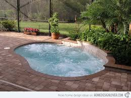 A small swimming pool is a great idea if we have limited space, but we