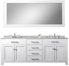 daston white 72 inch double sink bathroom vanity white marble countertop
