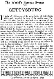 battle of gettysburg summary battle of gettysburg briefly a summation of the battle of gettysburg famous events magazine 1913
