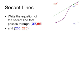10 secant lines write the equation of the secant line that p through and 200 220