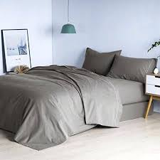800 thread count sheets. 800 Thread Count Cotton Sheets Sheet Set Genuine 4 Piece Luxury Bedding Grey Split King