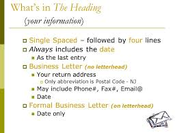Creating A Business Letter Business Technology Applications