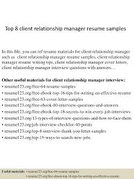 Relationship Resume Examples top60clientrelationshipmanagerresumesamples60conversiongate60thumbnail60jpgcb=160276055207 22