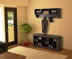 oak shoe storage bench with coat rack