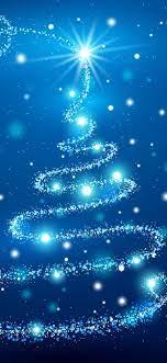 Blue Christmas tree, shine, stars ...