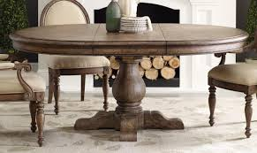 Round Table Pedestal Expanding Round Table With Self Storing Leaves Solid Walnut Table