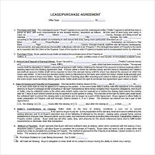 lease purchase contract. Simple Contract Lease Purchase Agreement To Print On Contract E