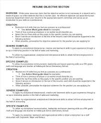 objective section on resume general resume objective section example what  should i write in the objective