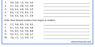 Ordering Decimal Numbers | Classroom Secrets