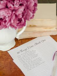 that the best valentine s day gift i ve ever given was a few years back when i gave my husband a handwritten list of 100 things i love about him