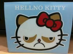 Grumpy Cat Hello Kitty | WeKnowMemes via Relatably.com