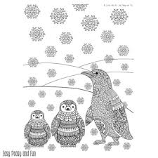 Penguins Winter Coloring Page For Adults Easy Peasy And Fun