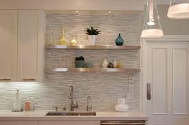 Contemporary Wallpaper Kitchen Backsplash Image