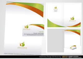 Stationery Business Card Design Vector Free Download