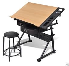 drawing table art desk design drafting board workstation crafting stool drawers