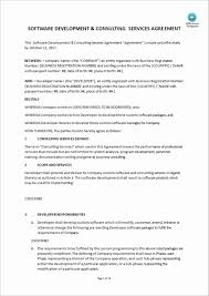 software developer contract template. Software Developer Contract Template Best Of software Development