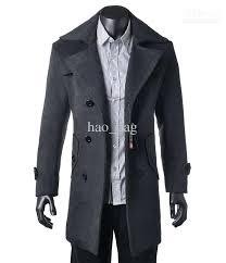 black mens trench coat fashion trench coat men cotton washing long