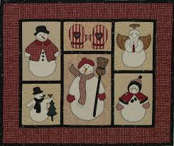 Free Snowman Applique Patterns   In this wall quilt, the snowmen ... & Free Snowman Applique Patterns   In this wall quilt, the snowmen were  appliquéd using fusible Adamdwight.com