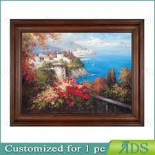oil paintings beautiful sea house scenery wall art painted on canvas pictures for living room home on home wall art painting with oil paintings beautiful sea house scenery wall art painted on canvas