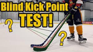 Blind Hockey Stick Kick Point Test Does Stick Flex Matter