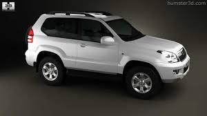 Toyota Land Cruiser Prado (120) 3-door 2009 by 3D model store ...