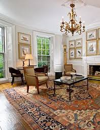 Oriental Rug Room Settings Gallery Antique Serapi In Townhouse Extraordinary Living Room Carpets Rugs