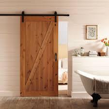 interior sliding door. 36-inch X 84-inch Z-Bar Knotty Alder Wood Interior Barn Door Sliding